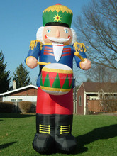 giant life size inflatable nutcracker playing drum