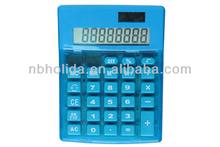 8-digit dual power desktop transparent calculator HLD804