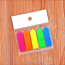 Boat Shape PET Film Color Adhesive Index Marker/Sticky Notes