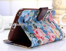 Fashion wallet leather case cover for Samsung galaxy Note 2