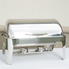 Buffet Display Equipment Hot Pot Roll Top Chafing Dishes For Sale