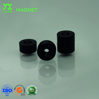 Rubber coated rare earth round base cup magnet with countersunk hole