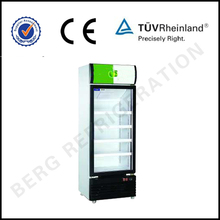 Commercial upright refrigerated refrigerator chille and freezer storage display