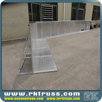 Metal floding removable concrete road crowed barrier metal road safety barricade;crowed control barrier