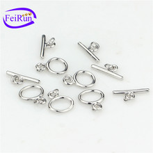 FEIRUN fashion 925silver women toggle clasp, unique jewelry clasps, small metal clasp