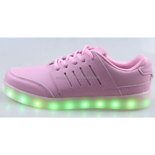 new italian design girls pink Led shoes