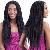 2015 new arrival 100% high quality human hair box braid lace wig for black women