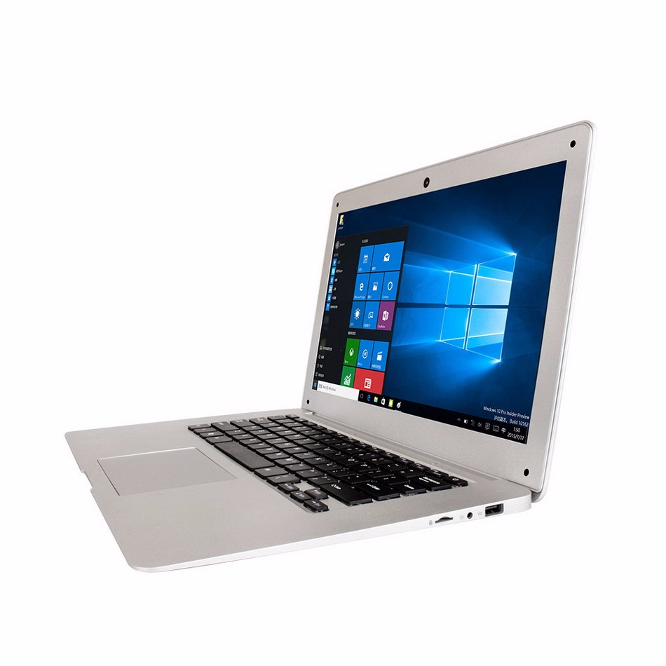 14.1 inch ultra laptop Intel Bay trail-T Z3735F Quad Core built in 2GB RAM 32GB SSD support SATA HDD Slim Win 10 Laptop Notebook