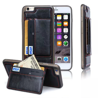 Multifunction wallet card holder holster leather feeling PU leather mobile phone case for iPhone 6/6s