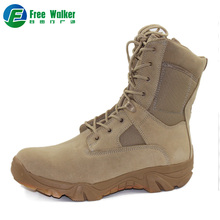 Good quality full suede leather upper material combat sude beige desert boots for mens