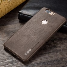 X-level Luxury Vintage PU leather Back cover phone case For Huawei Honor V8