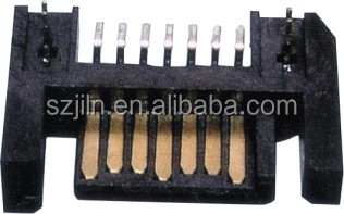 sata 7p board to correct right angle smt connector