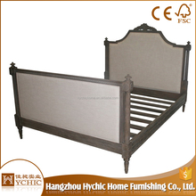 French European bedroom furniture customized fabric classic bed