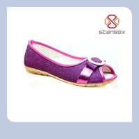 Bling purple lady ballet fish head shoes 2013