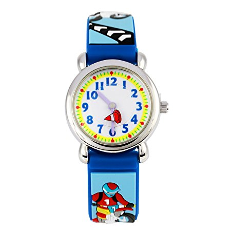 Promotional kids silicon rubber watch for boy child watches