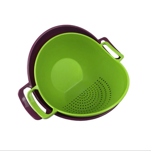 Washing Fruit And Vegetable Strainer Plastic Mixing Bowl