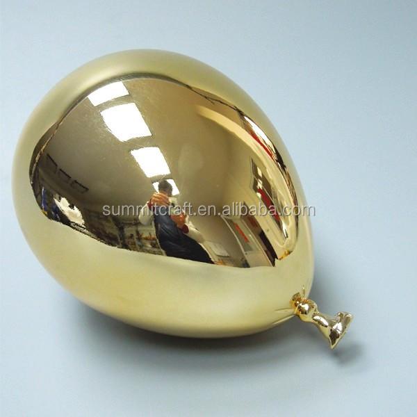Electroplated Plastic Hard Balloon Window Display Props