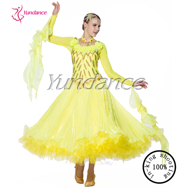Yellow Nylon Spanish Dance Dress 2016 B-14129