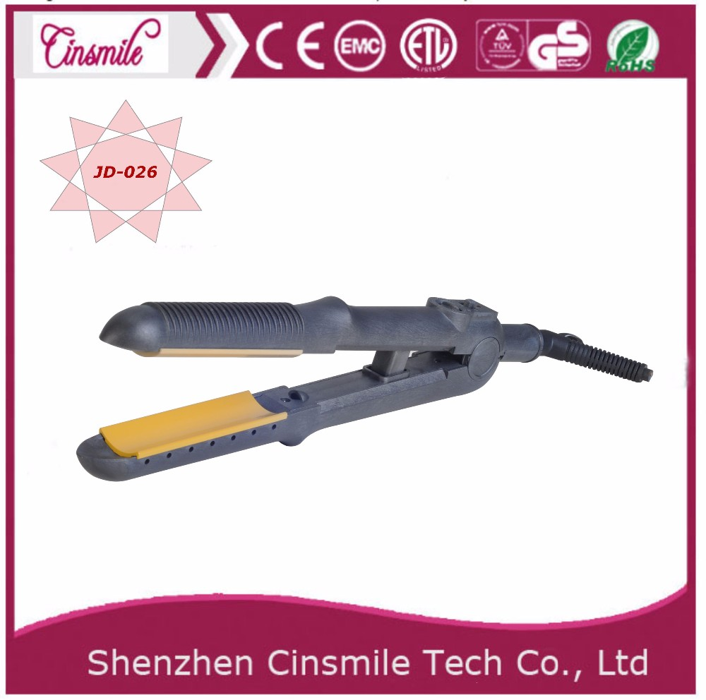 stainless steel finished hair straightener iron JD-041