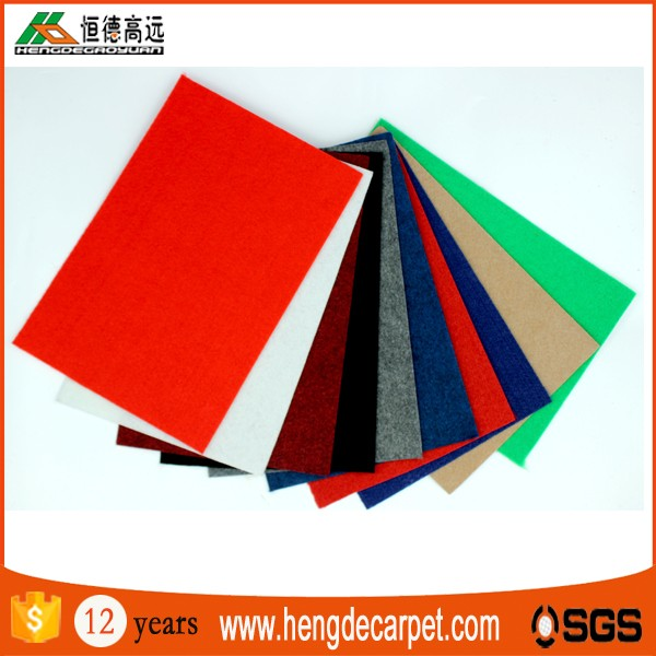 Chinese suppliers outdoor cheap waterproof red exhibition floor carpet