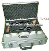 Small aluminum gun carry case with safe lock and strong handle