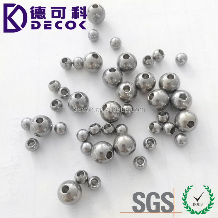 Hot sale stainless steel ball 6mm ball with 2mm hole