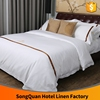 Wholesale fitted manufacturer latest bed sheet designs used white hotel 100% cotton bed