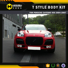 car parts auto spare pack earo kit fiber glass material TA style design body kit with hood and exhaust for cayenne 955 04-07