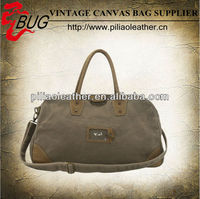 2014 Classic Waxed Cotton Canvas Large Travel Bag