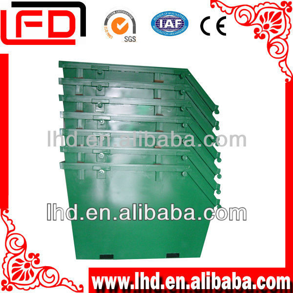 metal outdoor Storage Waste Container for forklift