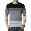 2016 New Autumn Fashion Casual Sweater O-Neck Striped Slim Fit Knitting Mens Sweaters And Pullovers Men Pullover 5XL