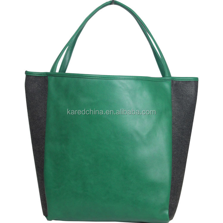 2014 hot design felt fabric wholesale promotional china wholesale milan shopping bag