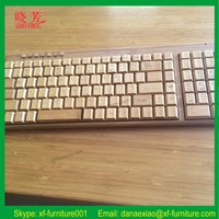 2016 Wholesale Delicate bamboo made wireless keyboard and mouse