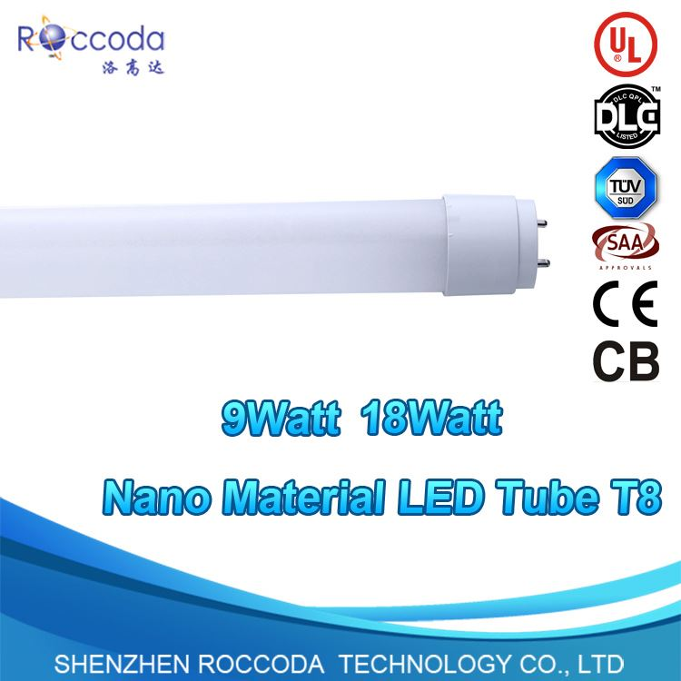 T8 Tube Neutral White Light 4000K LED tubes, Requires Ballast Bypass, Replaces 2Ft Flourescent Tube