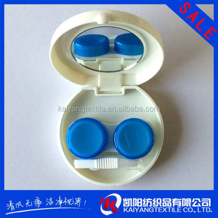 promotional gift wholesale contact lens case with mirror small MOQ