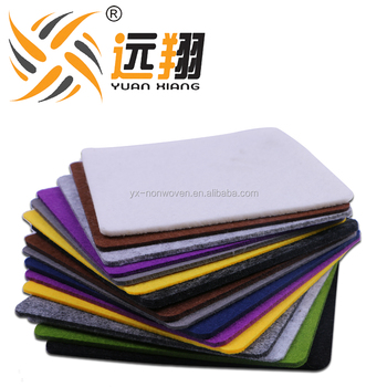 High quality Eco-friendly fireproof 100% color polyester felt