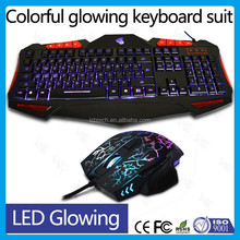 New fashion wired gaming Keyboard Mouse combo , Laptop gaming mouse keyboard combo, computer wirleless Keyboard Mouse suit