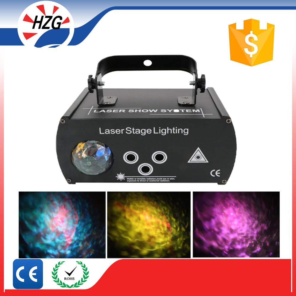 3W full Colors Led Ocean Water Wave Effect Projector Flashing Xmas laser Stage Light