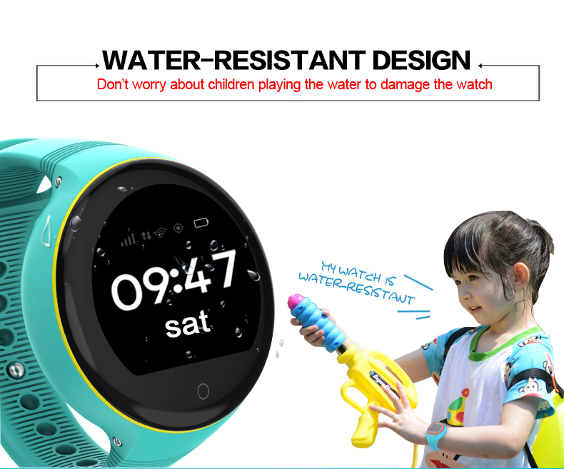 DG-S668 new unique christmas gift 1.22inch round screen GPS SOS kids watch