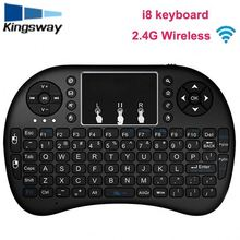 Free shippping i8 2.4g mini wireless keyboard TouchPad fly Mouse Gaming Keyboard For Android tv box