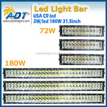 News Auto led light bar 36w 72w 144w 180w 252w 10-32V 3 years warranty IP67 led bar light for CR.EE off road bar led Lights