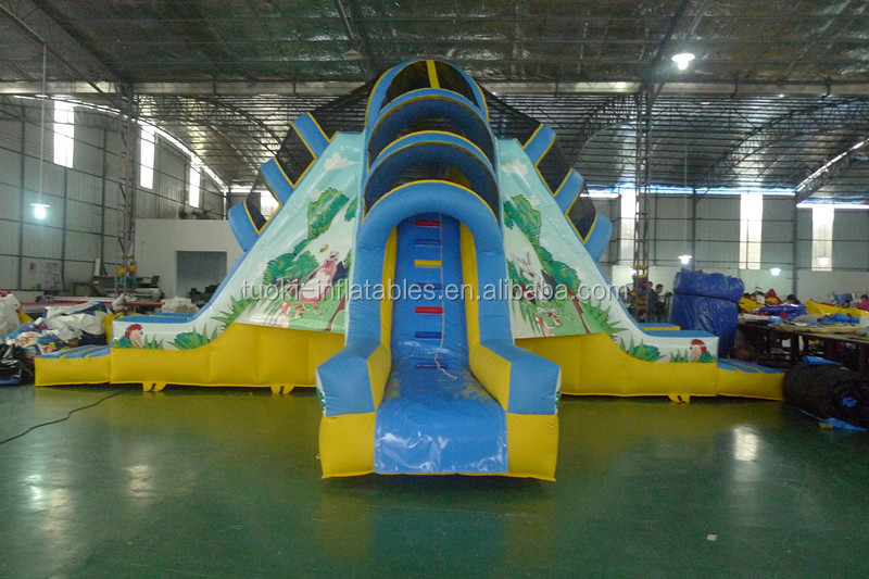 Hot Big feet inflatable wet/dry slide inflatable slide for kids SP-SL020