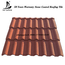 Guangzhou building materials stone coated ceramic tiles blue roofing shingles prices