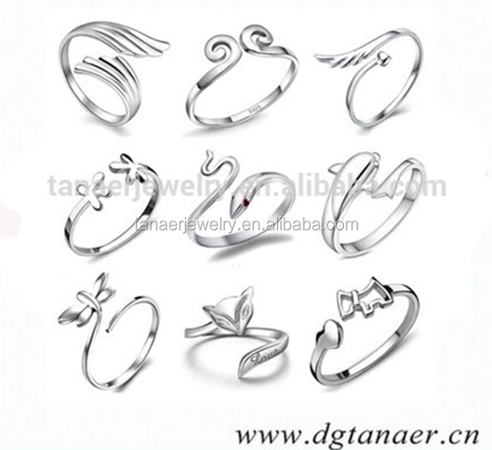 New body jewelry fashion design hot sale adjustable stainless steel ring