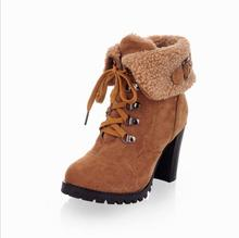 sh10332a 2017 Autumn shoes women ankle boots big size high heel rubber boots