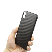 Elegant ultra thin light slim soft carbon fiber pp phone case for iphone 8 protective cover