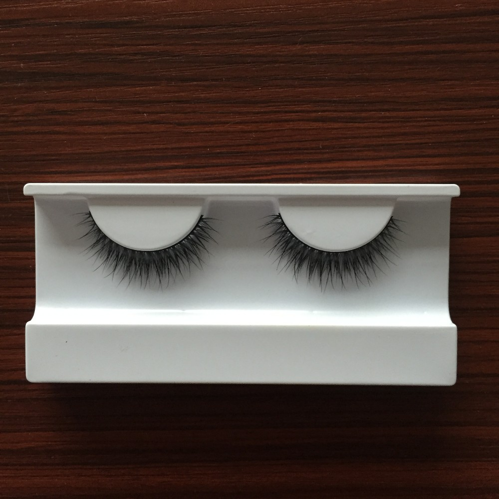 Factory supply 100% 3D real mink strip false eyelash with customized magnetic box