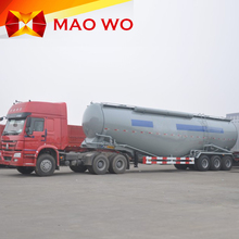 China 3 axles powder material bulk cement semi-trailer transport tanker truck