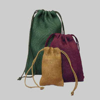 Burlap Cloth Bags with Drawstring