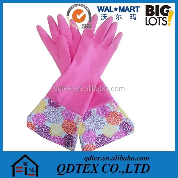 Long sleeve dishwashing gloves Warm labor laundry latex gloves household rubber gloves